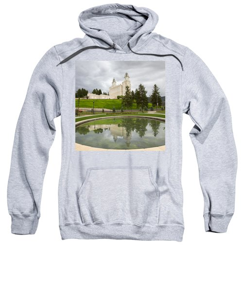Reflections Of The Manti Temple At Pioneer Heritage Gardens Sweatshirt