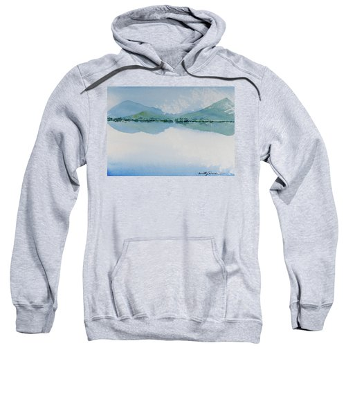 Reflections Of The Skies And Mountains Surrounding Bathurst Harbour Sweatshirt
