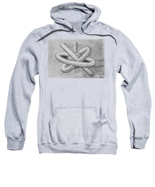 Sweatshirt featuring the drawing Religion Of Science by Yulia Kazansky