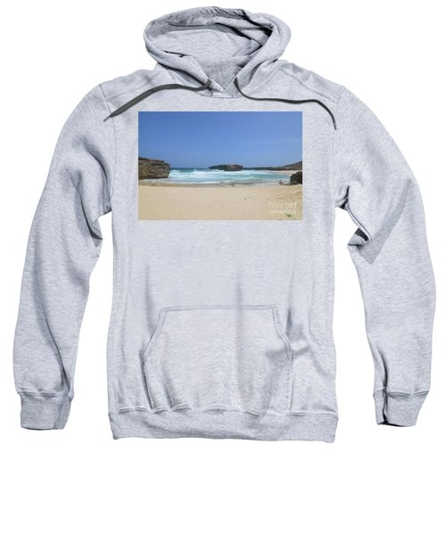 Remote Secluded Beach On The Island Of Aruba In The Dutch Antill Sweatshirt