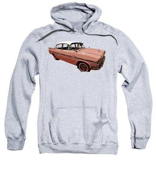 Retro Pink Car Art Sweatshirt