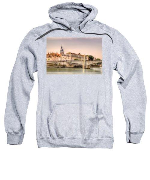 Bridge Over The Rhone River, France Sweatshirt