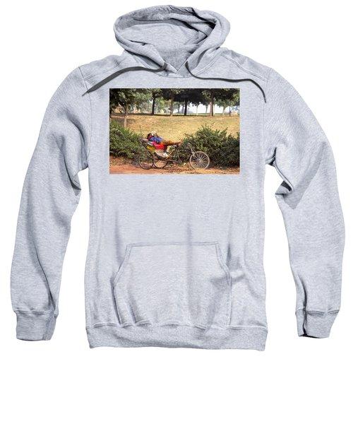 Rickshaw Rider Relaxing Sweatshirt