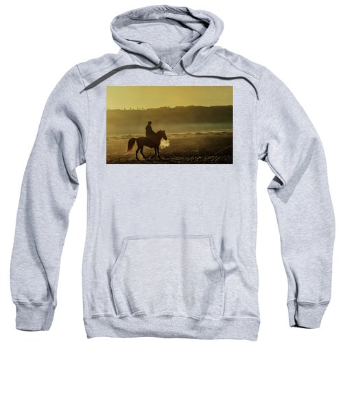 Riding His Horse Sweatshirt