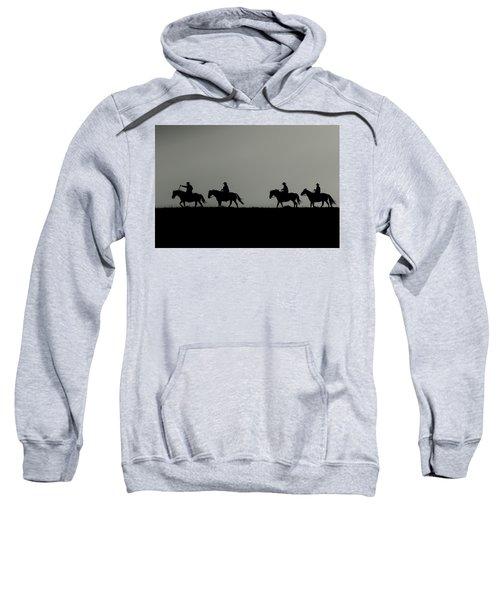 Riding The Range At Sunrise Sweatshirt