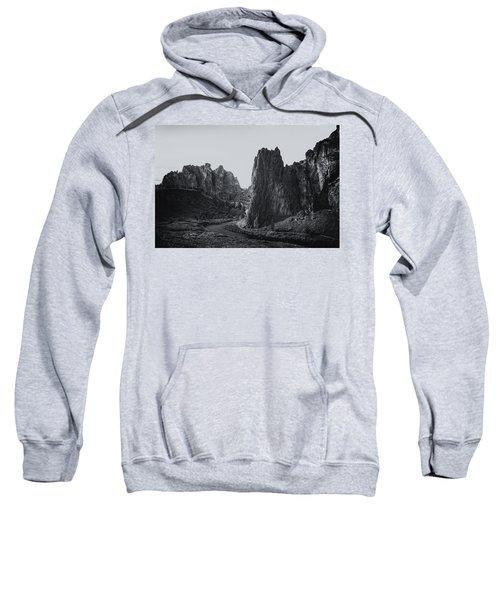 River And Rock Bw Sweatshirt