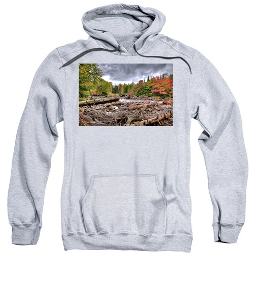 Sweatshirt featuring the photograph River Debris At Indian Rapids by David Patterson