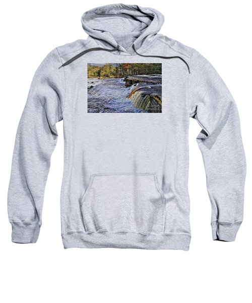 River Swale At Richmond Yorkshire Sweatshirt