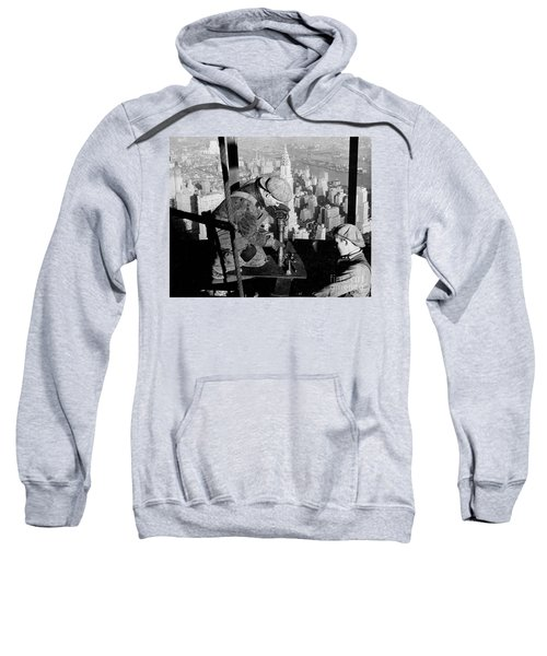 Riveters On The Empire State Building Sweatshirt by LW Hine