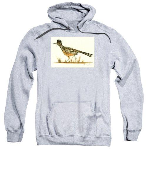 Roadrunner Bird Sweatshirt by Juan Bosco