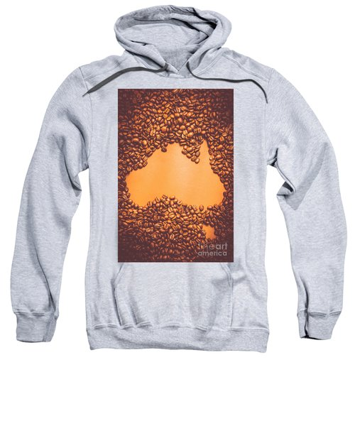 Roasted Australian Coffee Beans Background Sweatshirt