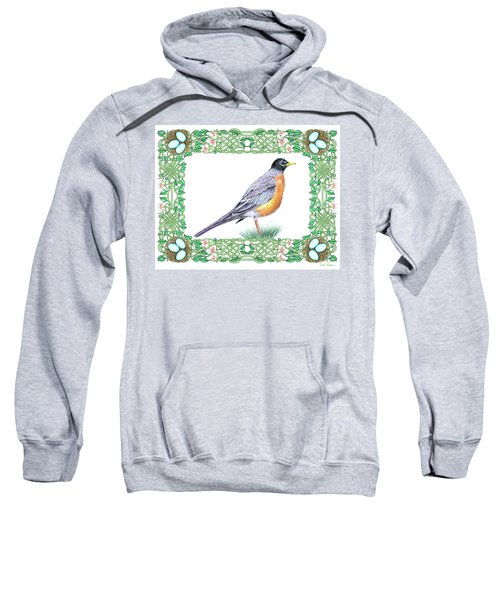 Robin In Spring Sweatshirt