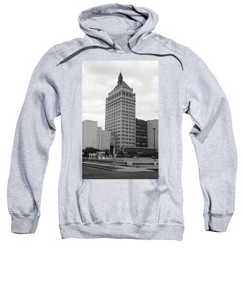Sweatshirt featuring the photograph Rochester, Ny - Kodak Building 2005 Bw by Frank Romeo