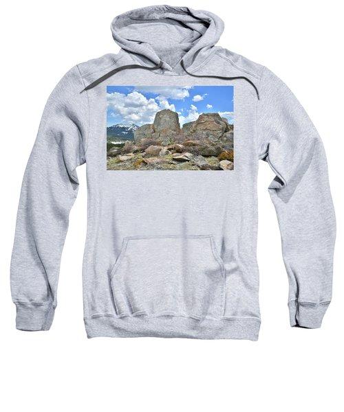 Rock Cropping At Big Horn Pass Sweatshirt