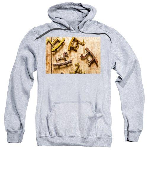 Rocking Horses Art Sweatshirt