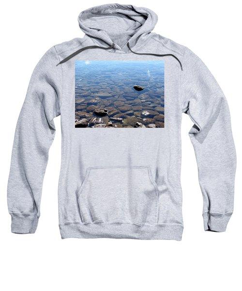 Rocks In Calm Waters Sweatshirt