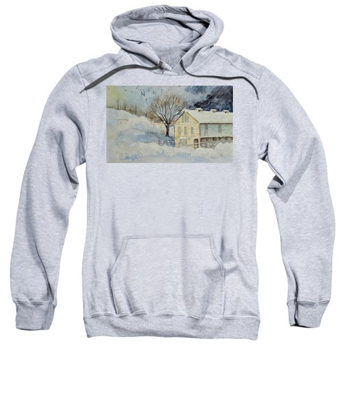 Rockville Farm In Snowstorm Sweatshirt