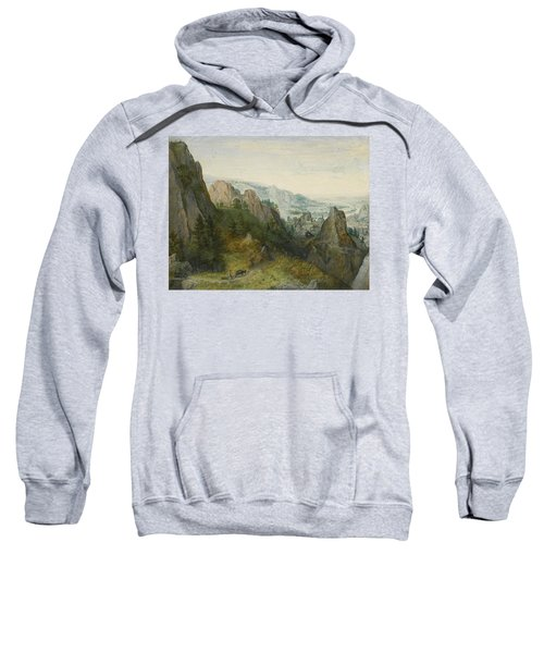 Rocky Landscape With Travellers Sweatshirt