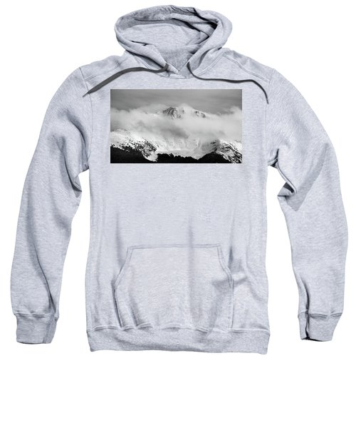 Sweatshirt featuring the photograph Rocky Mountain Snowy Peak by Stephen Holst