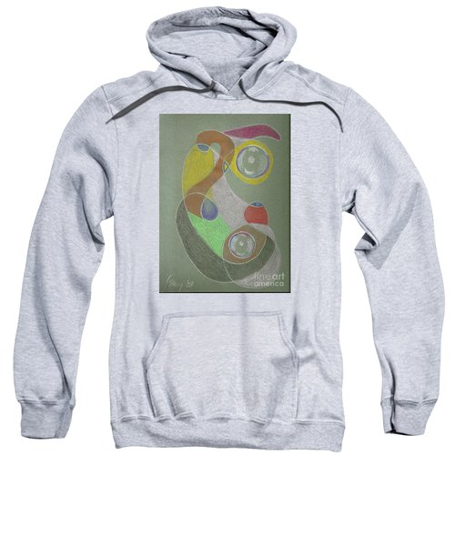 Sweatshirt featuring the drawing Roley Poley Vertical by Rod Ismay
