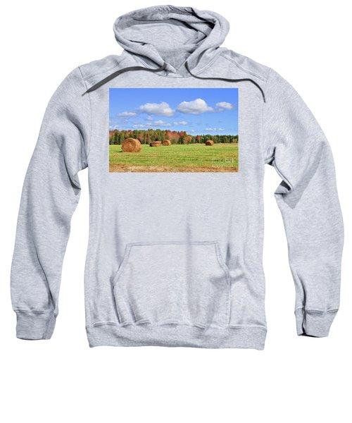 Rolls Of Hay On A Beautiful Day Sweatshirt