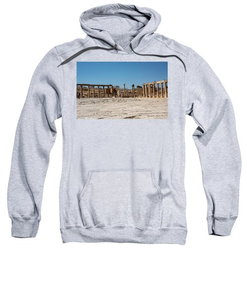 Sweatshirt featuring the photograph Roman Ruins At Ajloun by Mae Wertz