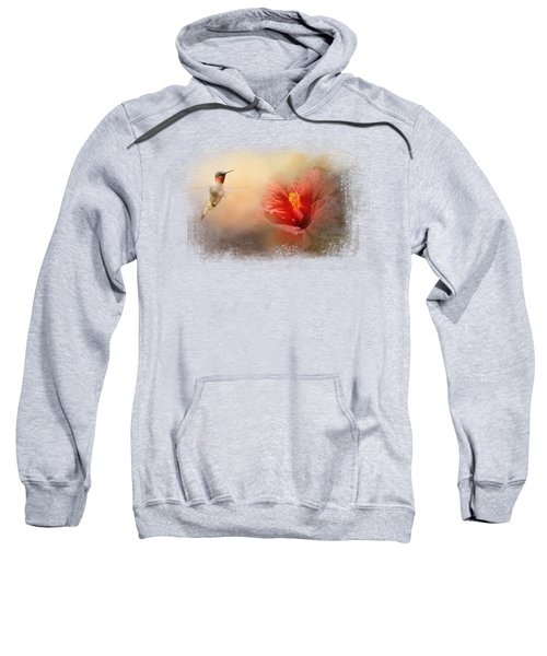 Romancing The Hibiscus Sweatshirt by Jai Johnson