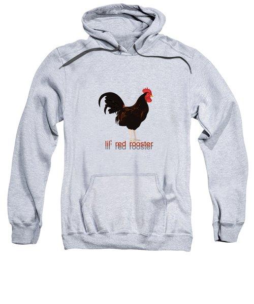Rooster Sweatshirt by Valerie Anne Kelly