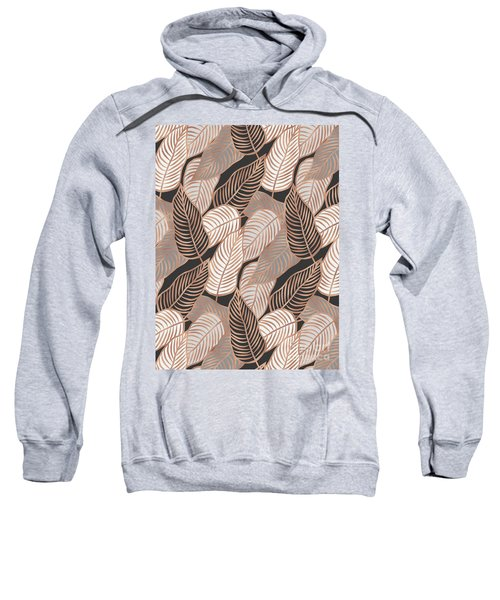 Rose Gold Jungle Leaves Sweatshirt