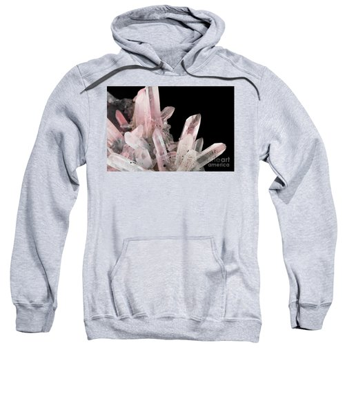 Rose Quartz Crystals Sweatshirt