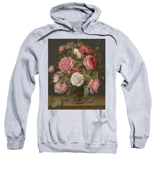 Roses In A Glass Vase Sweatshirt