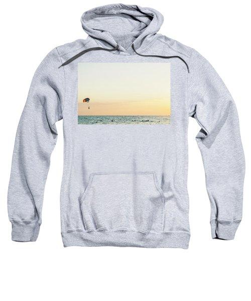 Round Parachute Against The Sunset Sky  Sweatshirt