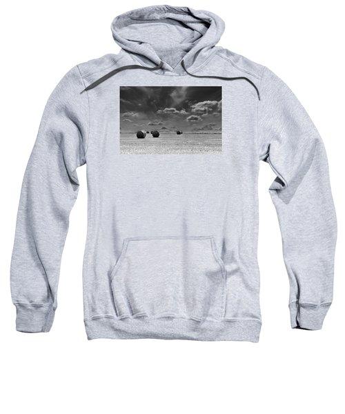 Round Straw Bales Landscape Sweatshirt