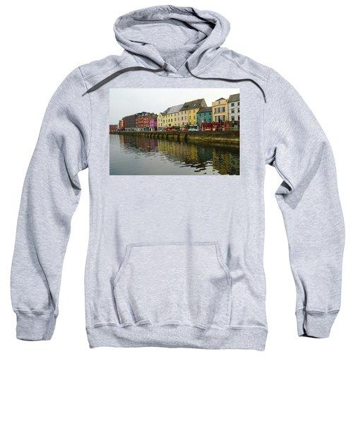 Row Homes On The River Lee, Cork, Ireland Sweatshirt