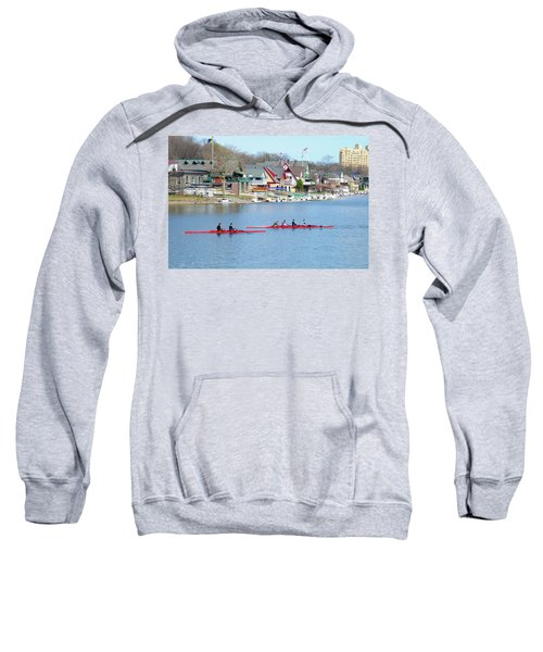 Rowing Along The Schuylkill River Sweatshirt