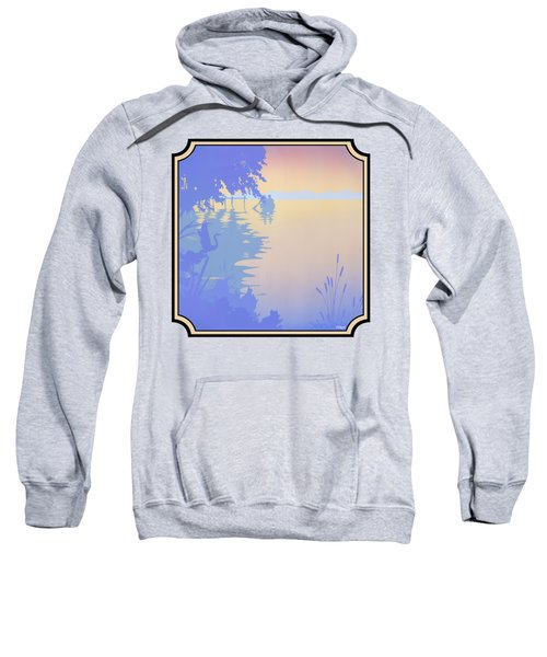 Rowing Back To The Boat Dock At Sunset Abstract Sweatshirt