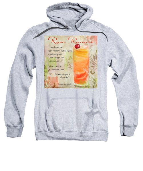 Rum Runner Mixed Cocktail Recipe Sign Sweatshirt by Mindy Sommers