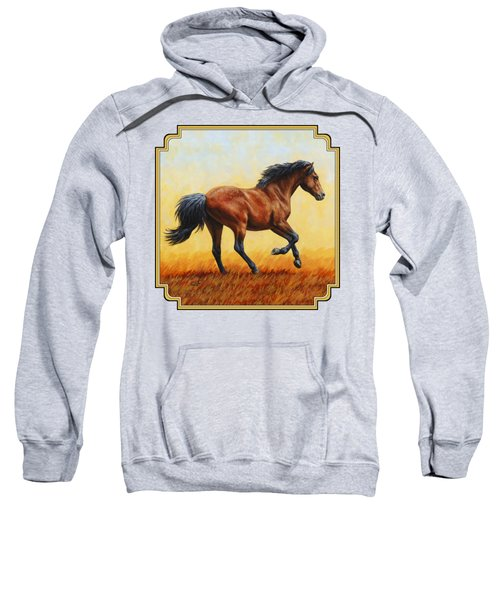 Running Horse - Evening Fire Sweatshirt by Crista Forest