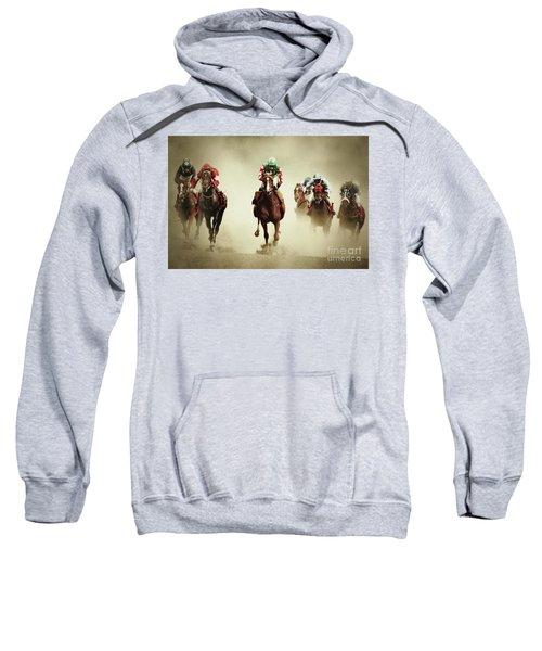 Running Horses In Dust Sweatshirt