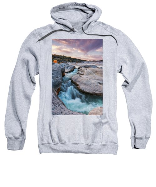 Rushing Waters At Pedernales Falls State Park - Texas Hill Country Sweatshirt