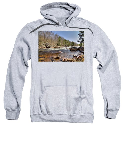 Sweatshirt featuring the photograph Rushing Waters Of The Moose River by David Patterson
