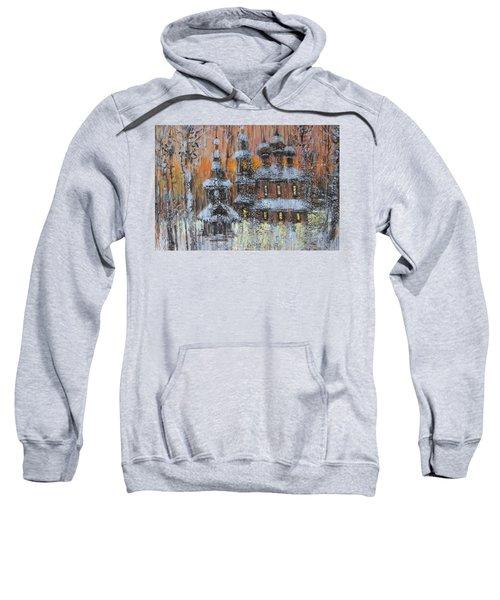 Russian Church Under Snow Sweatshirt