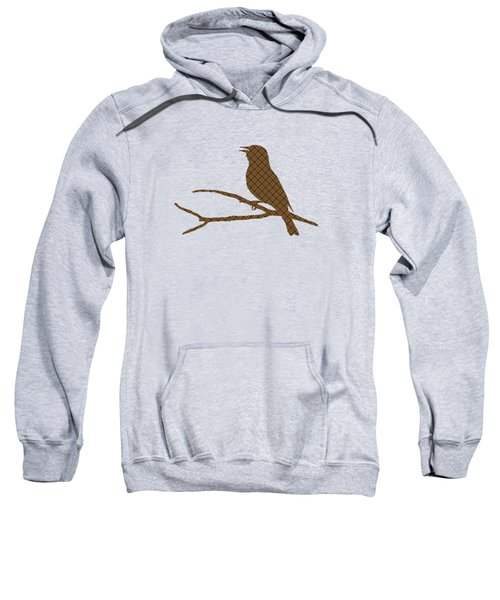 Rustic Brown Bird Silhouette Sweatshirt by Christina Rollo
