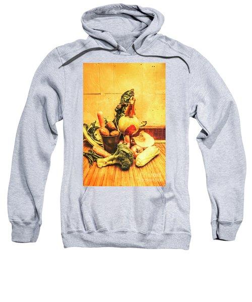 Rustic Vegetable Decor Sweatshirt