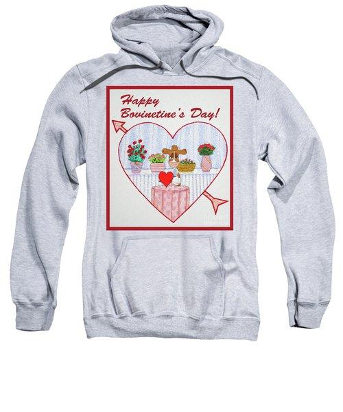 Ruthie-moo Happy Bovinetinesday Sweatshirt