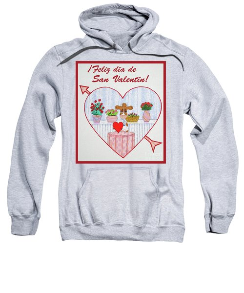 Ruthiemoo Heart Flores Feliz Dia De San Valentin Sweatshirt