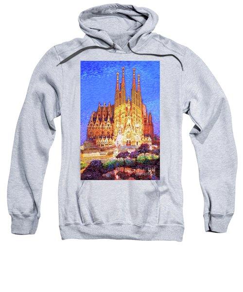 Sagrada Familia At Night Sweatshirt