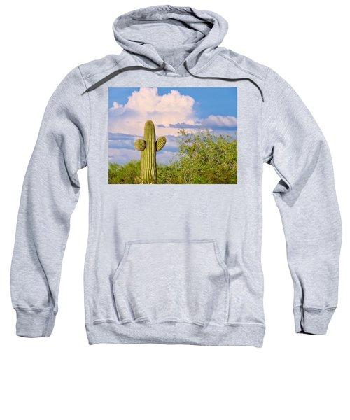 Saguaro And Mesquite In Monsoon Season Sweatshirt
