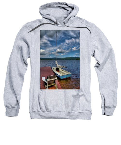 Sailboat On First Lake Sweatshirt
