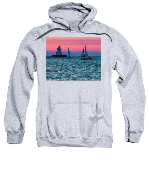 Sailing At The Cleveland Lighthouse  Sweatshirt